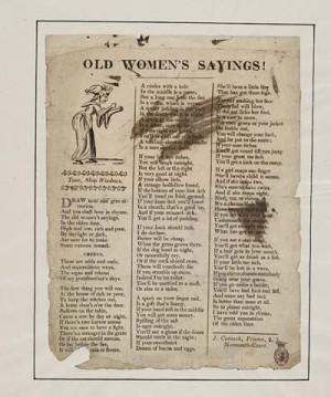 20) Old women's sayings
