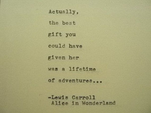 ... Typewriter Quote Made with Vintage Typewriter Lewis Carroll Quote