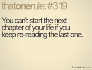 Don't dwell on the past; create the life you want!