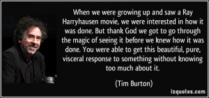 More Tim Burton Quotes