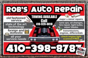 Sign – Robs Auto Repair