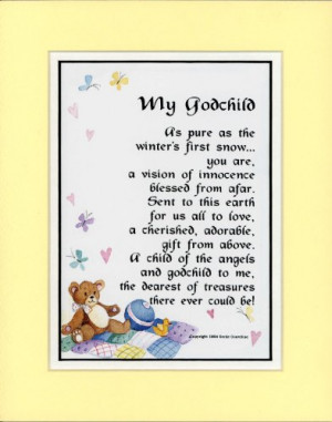 Godmother Poems Godchild Poem