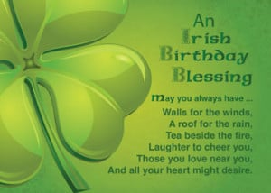 51877 Irish Birthday Blessings