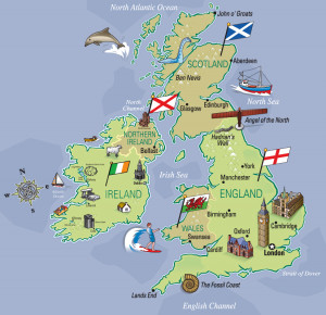 Map Of Britain Great Great Britain – Illustrated Map