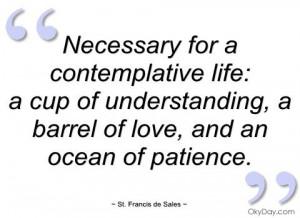 understanding, love and patience