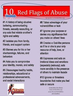 signs of domestic violence and abuse -