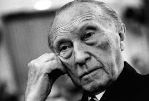 Konrad Adenauer, towering figure in post-war German politics... and ...