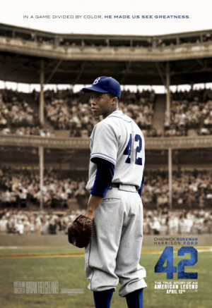 "... Jackie Robinson in the movie ""42"" directed by Brian Helgeland"