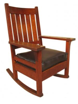 gustav stickley rocking chair stickley furniture maker mark early ...
