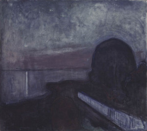 Starry Night, 1893 by Edvard Munch
