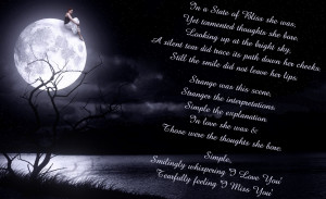 Moon Love Poems I downloaded the picture from