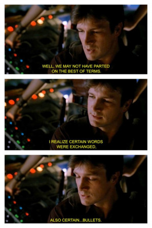 Firefly quote Nathan Fillion
