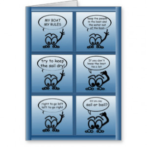 Sailing Lessons Funny Custom Greeting Greeting Card