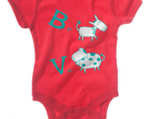 de Burro V de Vaca - Cute Spanish Saying Baby Onesie (Size 6-12 ...