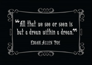 Edgar Allan Poe Quotes 2, A picture of Edgar Allan Poe along with a ...