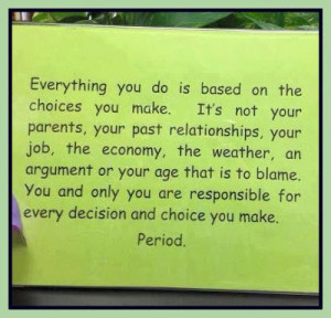 Responsibility Inspirational Quote