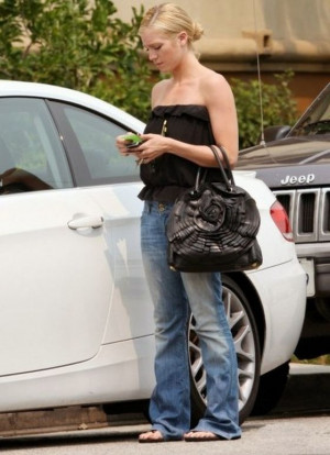 Brittany Snow drives BMW 3 Series Coupe