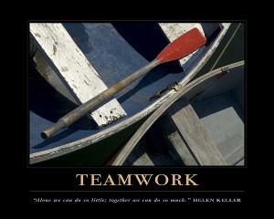 Teamwork Motivational Quote Print by David Simchock