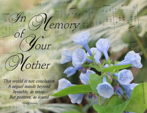 In Memory Of Your Mother, This World Is Not Conclusion A Sequel Stands ...