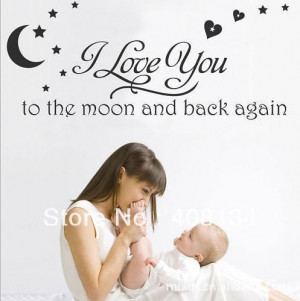 Love You To The Moon And Back Again - Baby Quote
