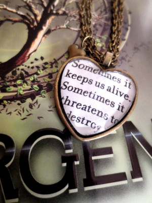Insurgent Quote by Veronica Roth Antiqued Bronze Book Page Necklace. $ ...