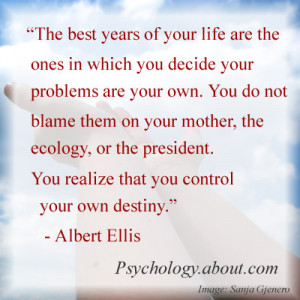 Albert Ellis quotes - © Kendra Cherry, adapted from an image by Sanja ...