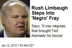 Rush Limbaugh Steps Into 'Negro' Fray