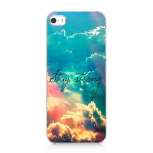 New Arrival Stay Strong Cute Life Quote Galaxy Nebula Case Hard Cover ...