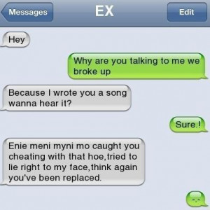 Funny Text Messages Bf/Gf | Awesome Song for her ex-boyfriend » Cool ...