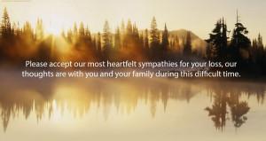 Please accept our most heartfelt