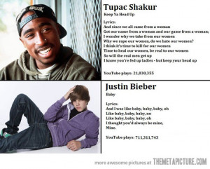 Funny photos funny Tupac vs Justin Bieber