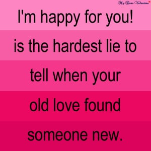 Love hurts quotes - I'm happy for you !
