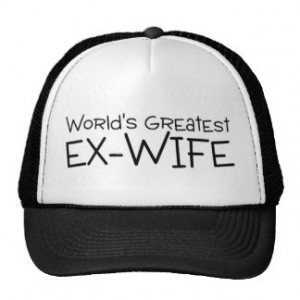 Worlds Greatest Ex Wife Trucker Hats