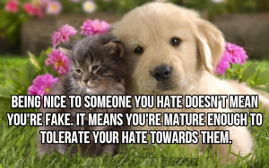 Being Nice To Someone You Hate Does't Mean You're Fake