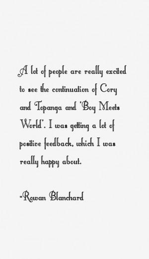 Rowan Blanchard Quotes & Sayings