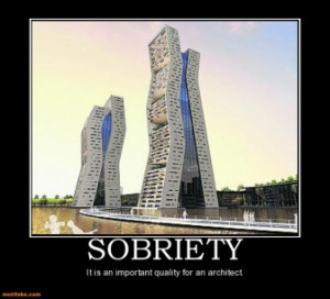 SOBRIETY - It is an important quality for an architect.