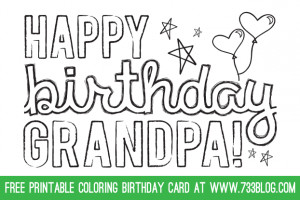 happy birthday grandpa coloring pages happy birthday grandpa coloring ...
