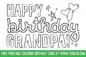 Rare image intended for grandpa birthday card printable