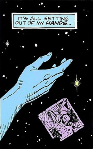 ... Dr Manhattan's head, so 'tense' becomes obsolete. What was is still