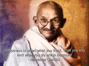 Mahatma gandhi, quotes, sayings, happiness, harmony, cute