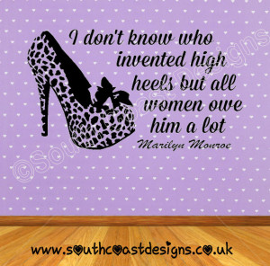 leopard-print-shoe-marilyn-monroe-quote-i-don-t-know-who-invented-high ...