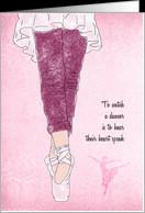 Dance Teacher Appreciation Day Ballet card - Product #841098