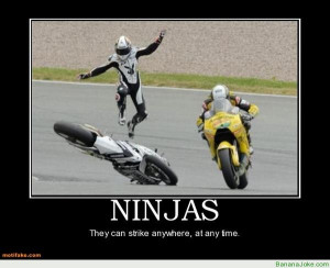 Ninjas – if you see them, it's too late!