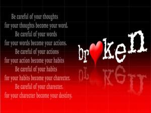 Broken Heart with Quote