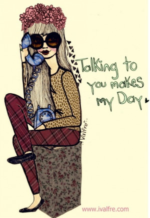 cute, drawing, fashion, girl, girl quotes, grunge, happiness, happy ...
