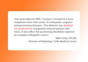 dual detector DRX 1 System is located in a busy outpatient clinic