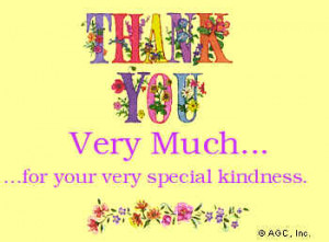 thank you for your special kindness