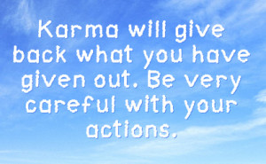 Karma Facebook Status On Sky Background