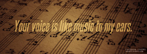 Music To My Ears Facebook Covers