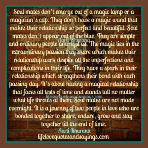 Soul mates Share An Extraordinary Passion..
